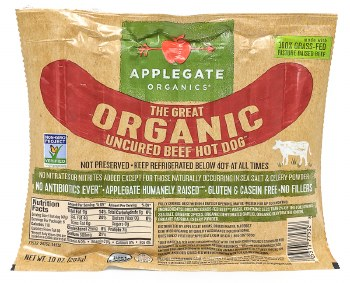 Great Organic Beef Hot Dogs 6pk