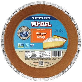 Gingersnap Pie Crust Gluten Free 7oz