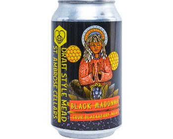 """""""Black Madonna"""" Sour Blackberry Mead 355ml Can"""