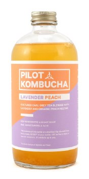 Lavender Peach Kombucha 16oz