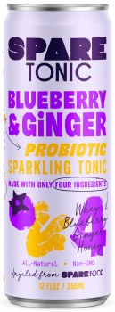 Blueberry and Ginger Probiotic Sparkling Tonic 12oz