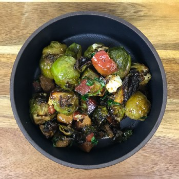 Roasted Brussels Sprouts with Bacon (1/3lb)