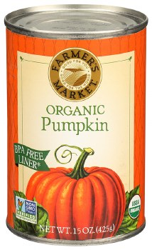 Organic Canned Pumpkin 15oz