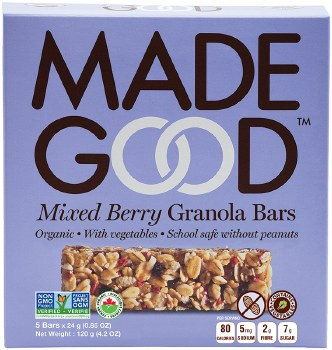 Mixed Berry Granola Bars 5oz