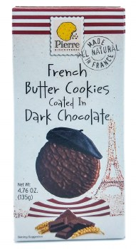 Dark Chocolate Butter Cookies 4.8oz