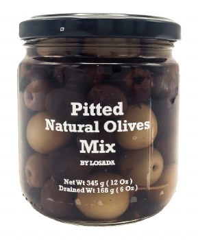 Pitted Mixed Olives 12oz