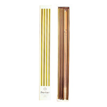 "Porter 10"" Metal Straws 4 pack"