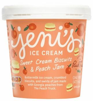 Sweet Cream Biscuits & Peach Jam Pint