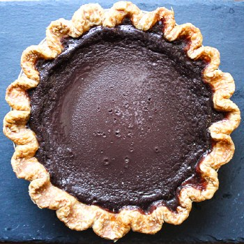 Chocolate Chess Pie 8""