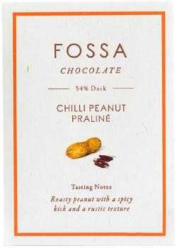 Chili Peanut Praline Dark Chocolate 54% 50g