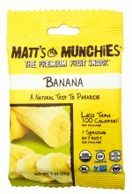 Banana Fruit Snacks 1oz