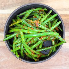 Spring Green Beans with Pesto (1/2)
