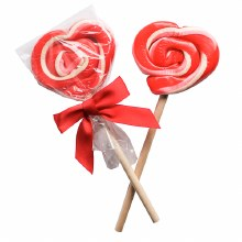 Strawberry Shortcake Heart Lollipop 2oz