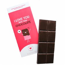 I Love You More Than Chocolate Bar 3.5oz