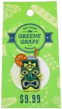 Green Tiki Enamel Pin