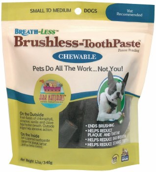 Ark Naturals Brushless-Toothpaste Chewables Small to Medium Dogs