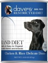 Dave's Restricted Diet Bland Diet Chicken & Rice Delicate Dinner 13.2oz