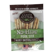 Earth Animal No-Hide Pork Stix 10pack