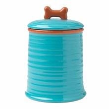 Embossed Aqua Treat Jar