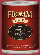 Fromm Gold Beef & Barley Pate 12.2oz