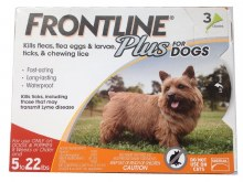 Frontline Plus 3 doses 5-22# Dog