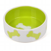 Kool Pet Lime Green Stoneware Small