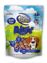 NutriSource Grain-Free Rabbit Bites 6oz