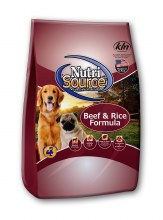 NutriSource Beef & Rice 15#