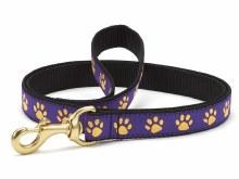 Purple Yell Paw Narrow 6' Lead