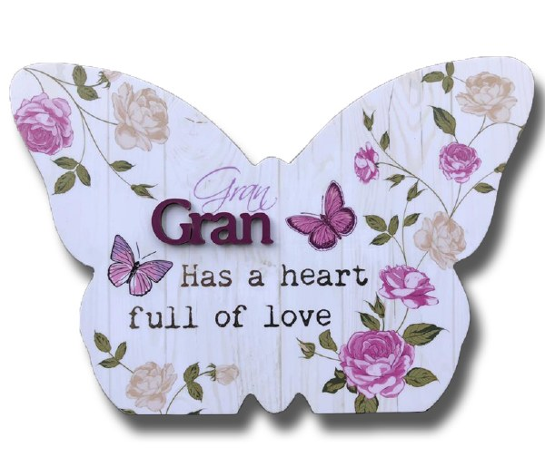 Gran Blooms Butterfly plaque