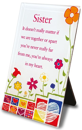 Sister Blessing Glass Plaque