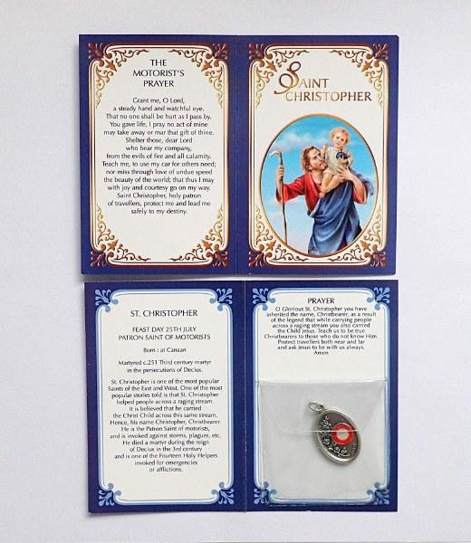 St Christopher Motorist's Prayer Relic Medal
