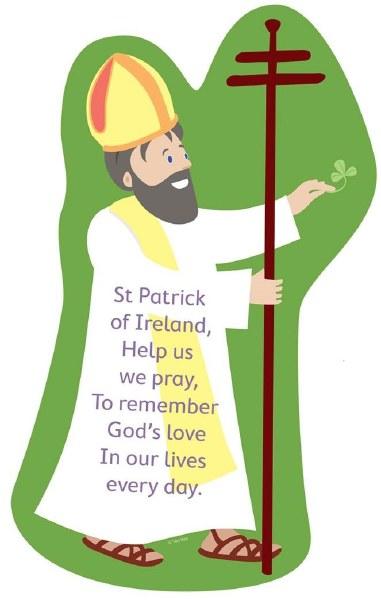 St Patrick Grow In Love Plaque 34 x 24 cm