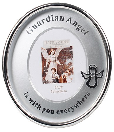 Guardian Angel Silver Plated Photo Frame