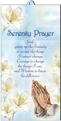Wood Plaque Serenity Prayer