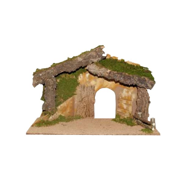 Nativity Shelter with Grass Roof