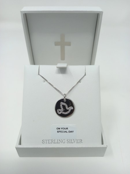 Sterling Silver Confirmation Necklet with Dove