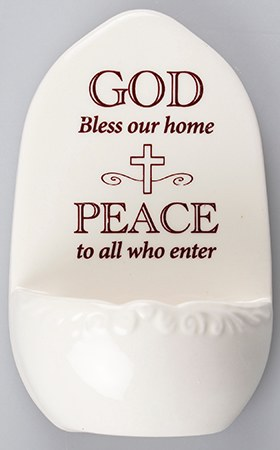 Bless Our Home Holy Water Font