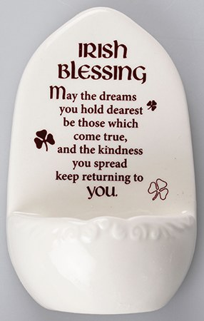 Irish Blessing Holy Water Font