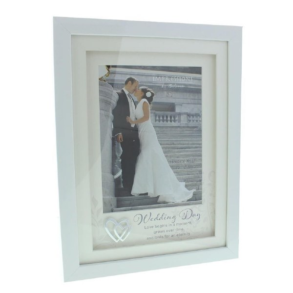Impressions By Juliana Wedding Day 6 x 8 White Photo Frame
