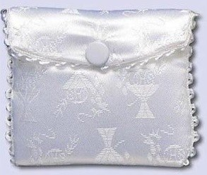 First Holy Communion Rosary Purse White