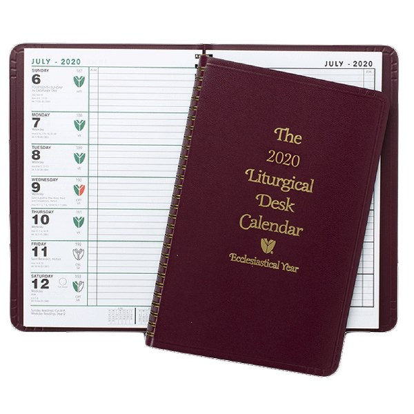 2020 Liturgical Desk Calendar, Catholic, Flex Bind