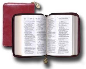 Ignatius Catholic Bible, Compact, Burgundy