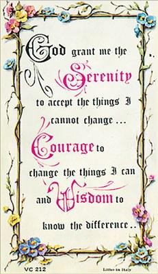 Serenity Verse Prayercard