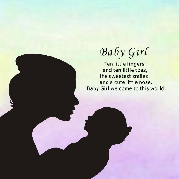 Baby Girl Reflections of the Heart Frame