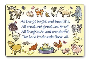 All Things Bright and Beautiful Plaque