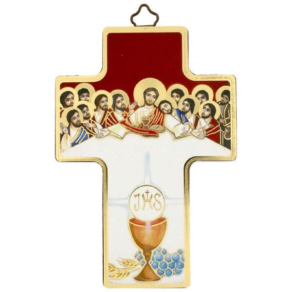 Last Supper Host Icon Crucifix (12 x 9cm)