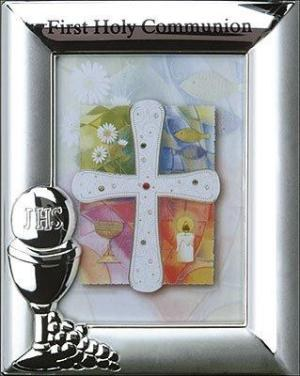 First Holy Communion Photoframe with Chalice Motif