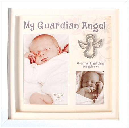 Guardian Angel White boxed Frame