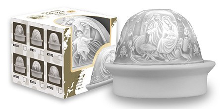 Nativity Porcelain Dome with LED Light